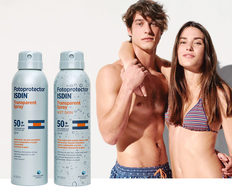 Fotoprotector ISDIN Transparent Spray & Transparent Spray WET SKIN