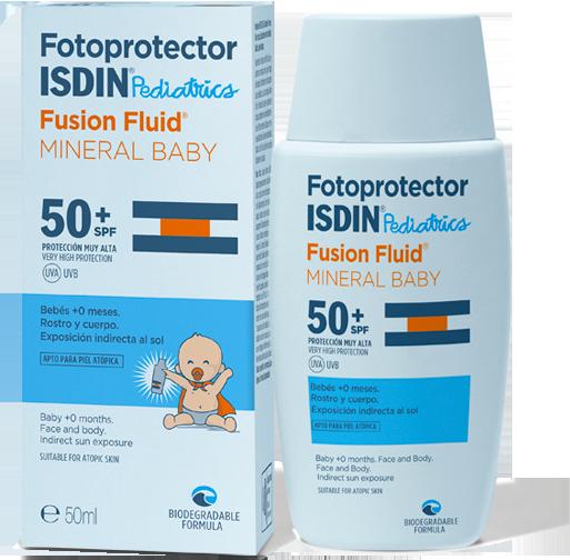 Fotoprotector ISDIN Pediatrics Fusion Fluid Mineral Baby