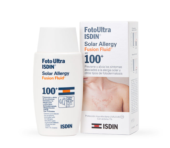 FotoUltra ISDIN Solar Allergy Fusion Fluid 100, previene ...