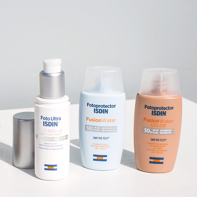 fotoprotectores Isdin Age Repair Fusion Water Color