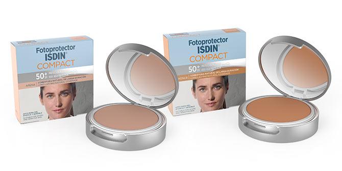 maquillaje con proteccion solar 50 Isdin Compact tonos