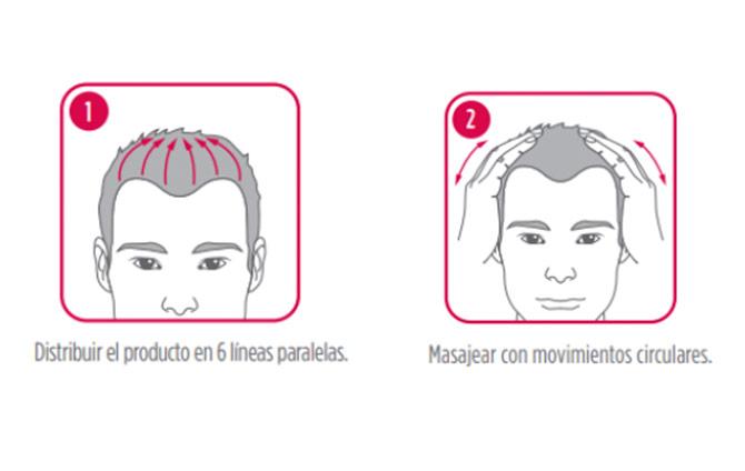 cómo utilizar loción caída del cabello