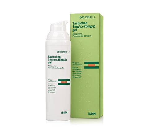 Tactuoben Gel Adapaleno 1mg/g + Peróxido de Benzoilo 25 mg